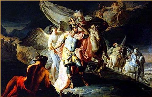 Francisco de Goya: Aníbal vencedor contempla por primera vez Italia desde los Alpes (óleo sobre lienzo, 1770)