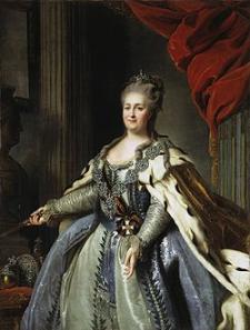 Retrato de Catalina la Grande (1729-1796), obra de Fedor Rokotov (fuente: wikipedia)