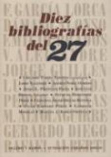 Gregorio Torres Nebrera: Diez bibliografías del 27 ((Fundación Gerardo Diego/Ollero y Ramos)