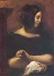 George Sand retratada por Eugène Delacroix (fuente wikipedia)