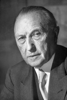 Konrad Adenauer en 1952 (foto wikipedia)