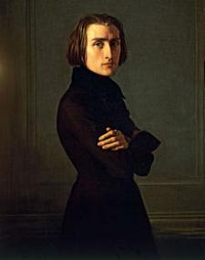 Retrato de Franza List, obra de Henri Lehmann (1839)