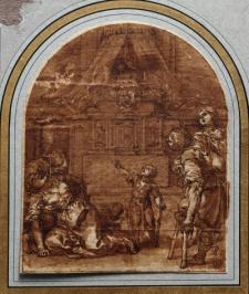 Alonso Cano: Milagro ante la tumba de San Pedro Martir, 1665 (Museo Nacional del Prado)