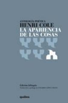 Henri Cole: La apariencia de las cosas (Quálea Editorial)