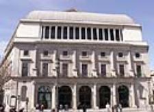Teatro Real de Madrid, fachada este (Plaza de Oriente)