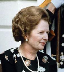Margaret Thatcher en 1982