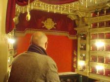En el interior del Teatro alla Scala