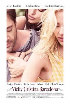 Cartel de la película Vicky Cristina Barcelona, de Woody Allen