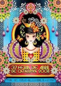 Cartel de la Feria de abril de Cataluña (2008)