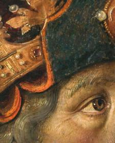 Detalle de Reyes de Judá de Pedro Berruguete