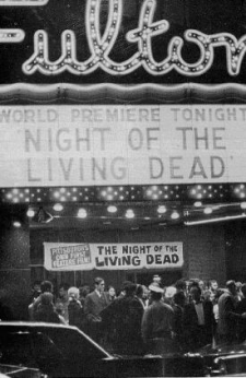 Imagen del estreno de la película en Pittsburgh (fuente: The complete night of the living dead)