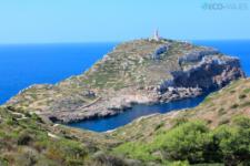 Panorámica del Faro de N'Ensiola en Cabrera (foto propiedad de Eco-Viajes)