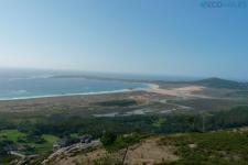 Laguna de Carregal y Dunas de Corrubedo desde el Mirador de Piedra de la Rana (foto propiedad de Eco-Viajes)